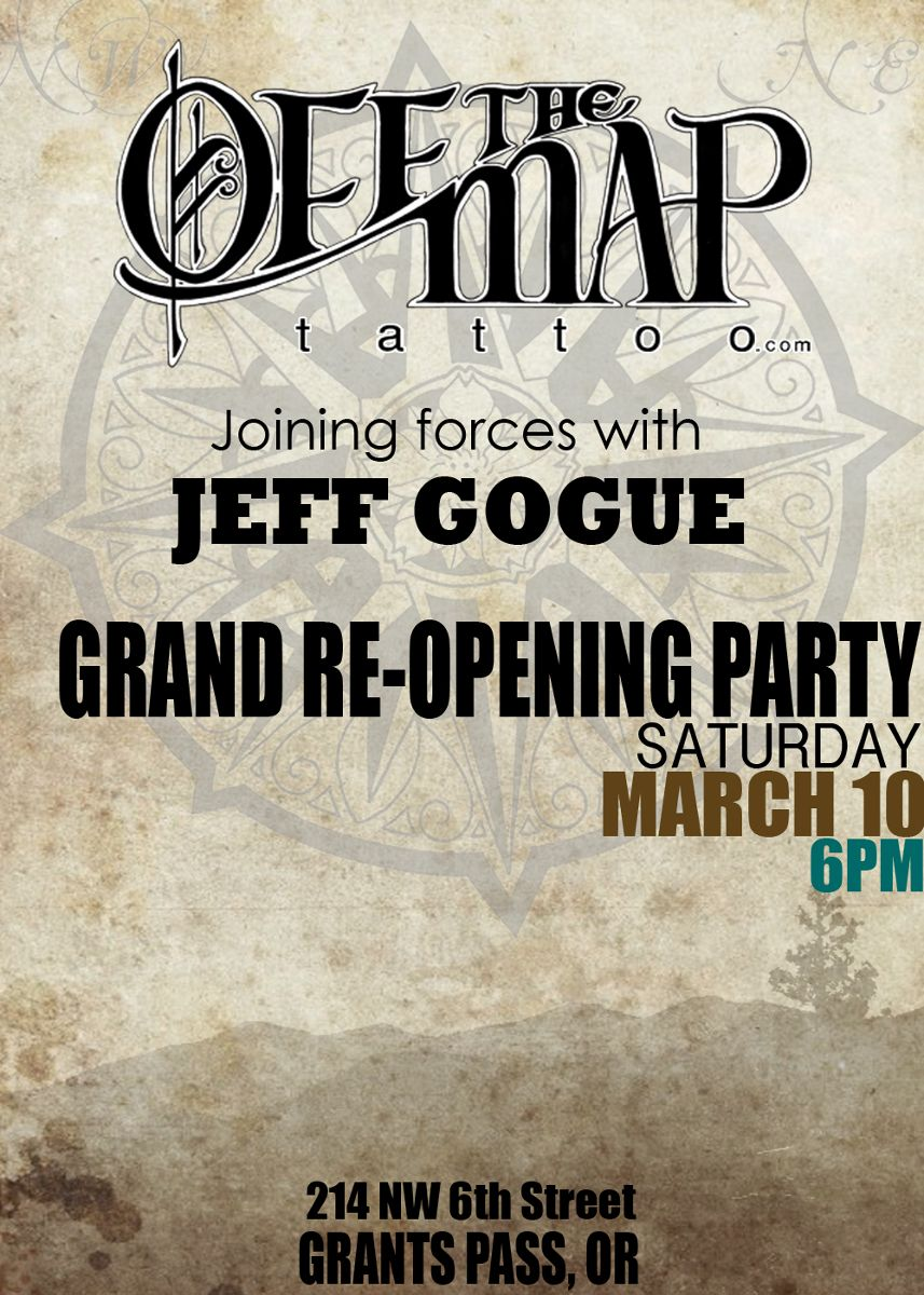 Off the Map Grants Pass Grand Re-Opening Party