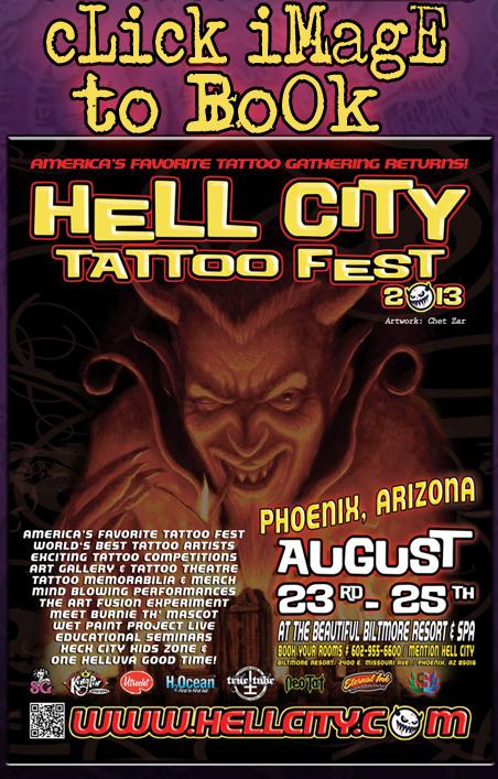 Travis Litke Tattoo Hell City Tattoofest Phoenix Arizona Biltmore Resort
