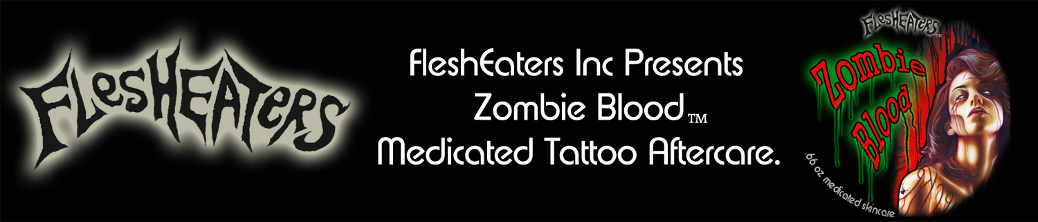 FleshEaters muecke tattoo zombie blood ink tattoo aftercare medicated tattoo care