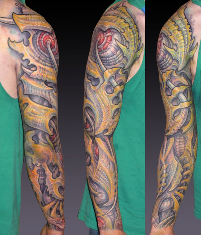 bio coverup sleeve tattoo