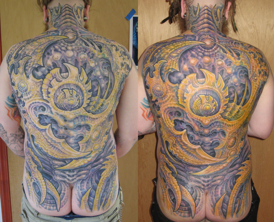 Guy Aitchison Don MacDonald Collaborative back piece tattoo