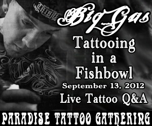 Big Gus Tattooing Live Thursday! 