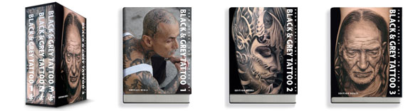 black and grey tattoo book