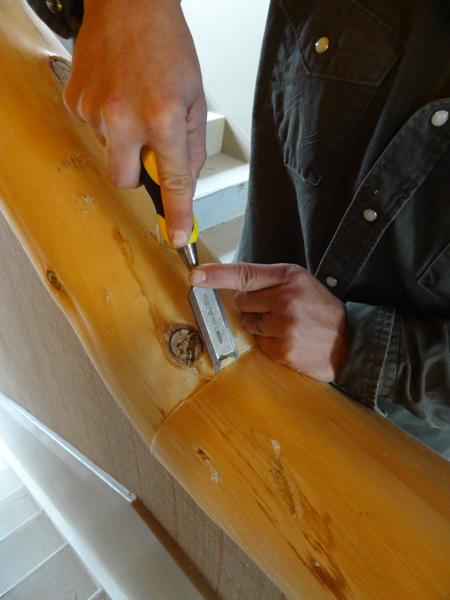 cedar hand rails