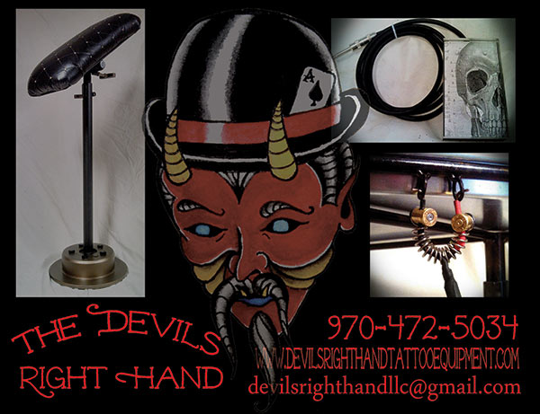 devils right hand tattoo equipment