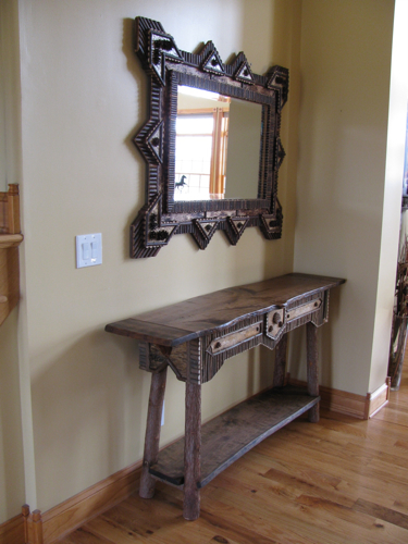 Rustic Hall Table Custom Rustic Furniture By Don Mcaulay