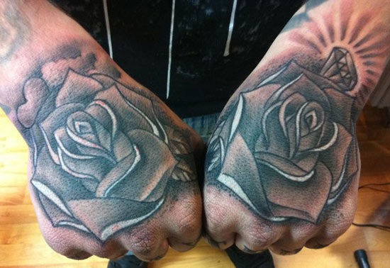 big gus rose tattoo