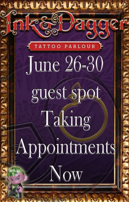 Travis Litke Guest Spot At Ink And Dagger Tattoo With Russ Abbott Kelly Doty
