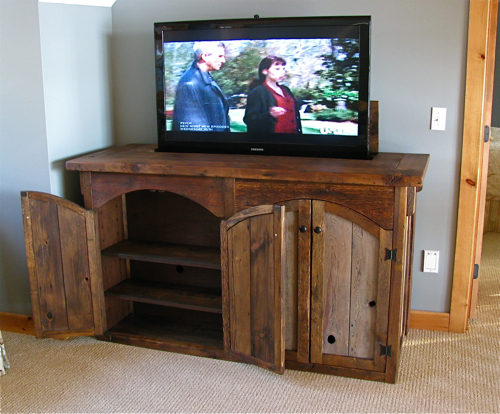 Rustic Tv Lift Cabinet 4 Door Tattoo Education