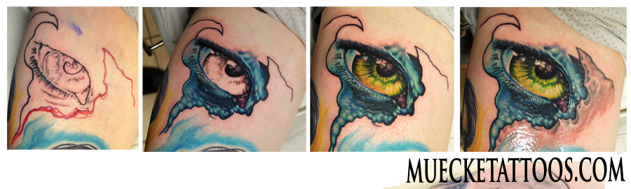 freehand, tattoo, muecke, muecketattoo, eye, eyeball, bio, bio mechanical, step by step, ink, pen, skin, avatar,