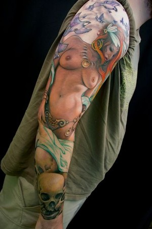 Tattoos - frazetta style sleeve - 47516
