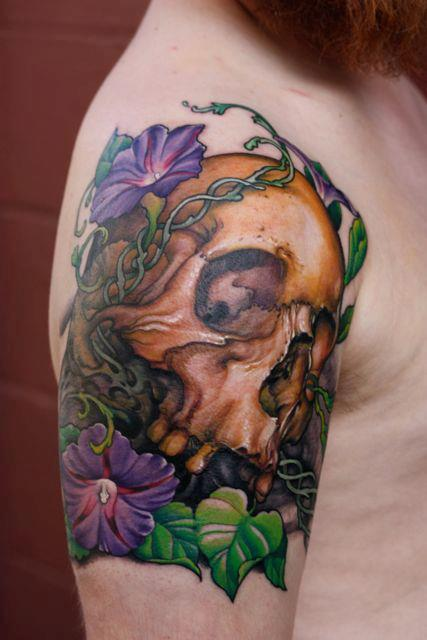 Tattoos - Skull and Primrose - 68093