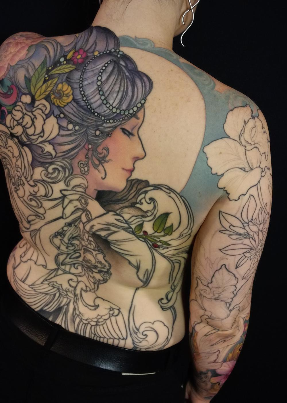 Tattoos - Full back in progress - 115144