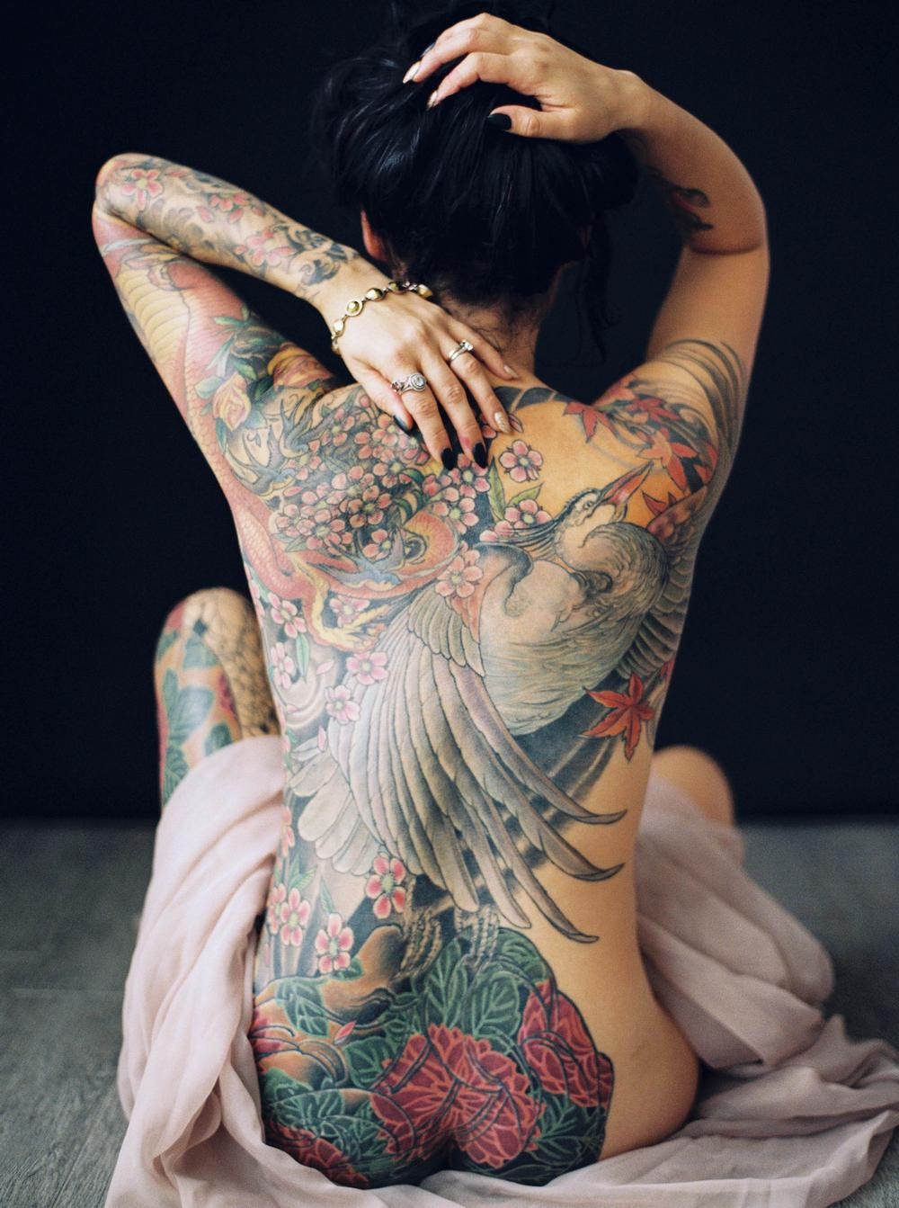 Tattoos - Heron maiden - 115117