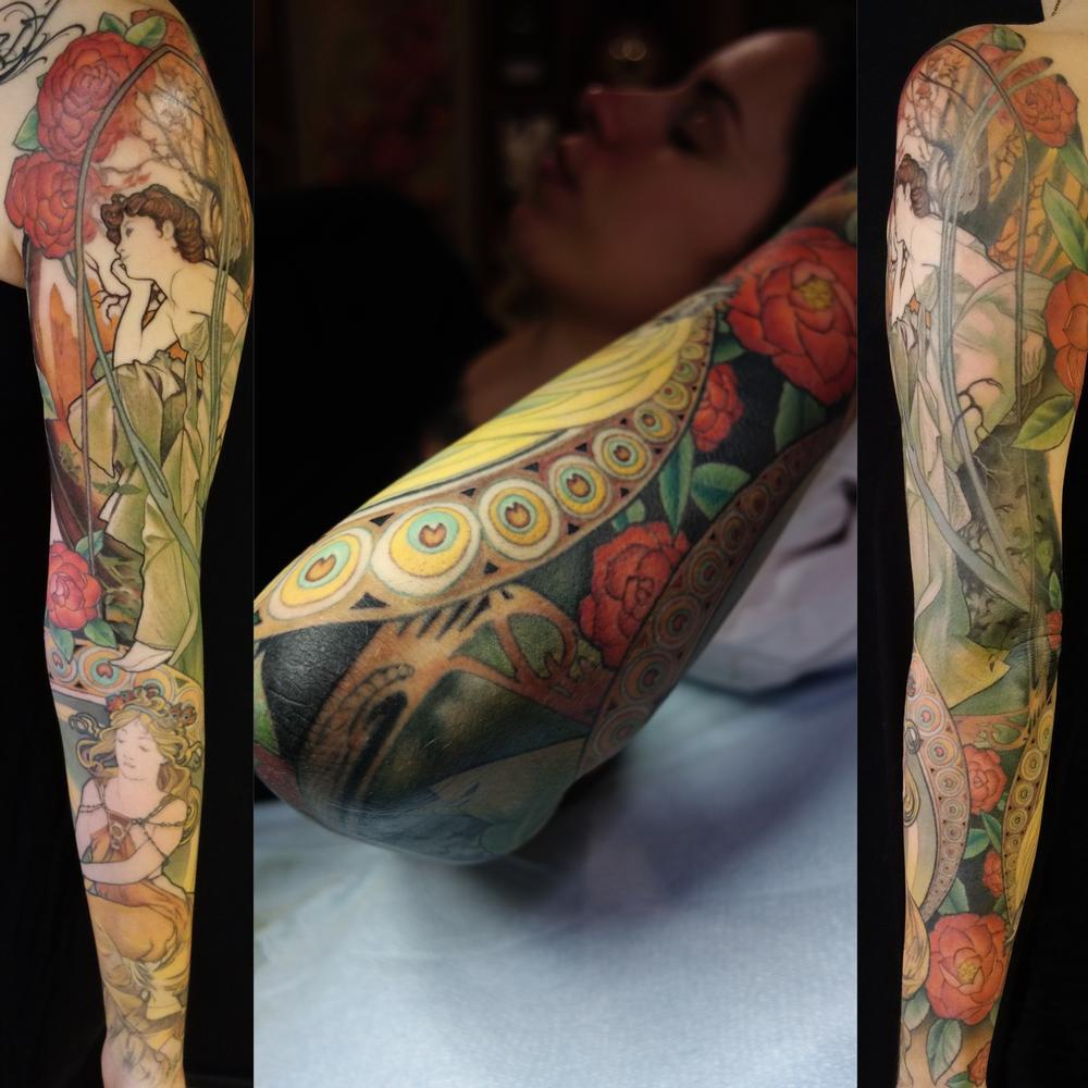 Tattoos - Mucha sleeve - 115108
