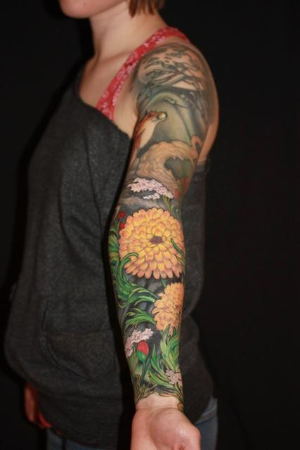 Tattoos - Another shot of the sleeve - 91524