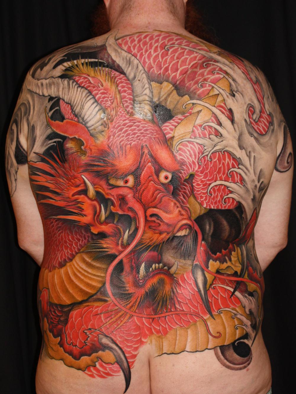 Tattoos - red dragon - 55336