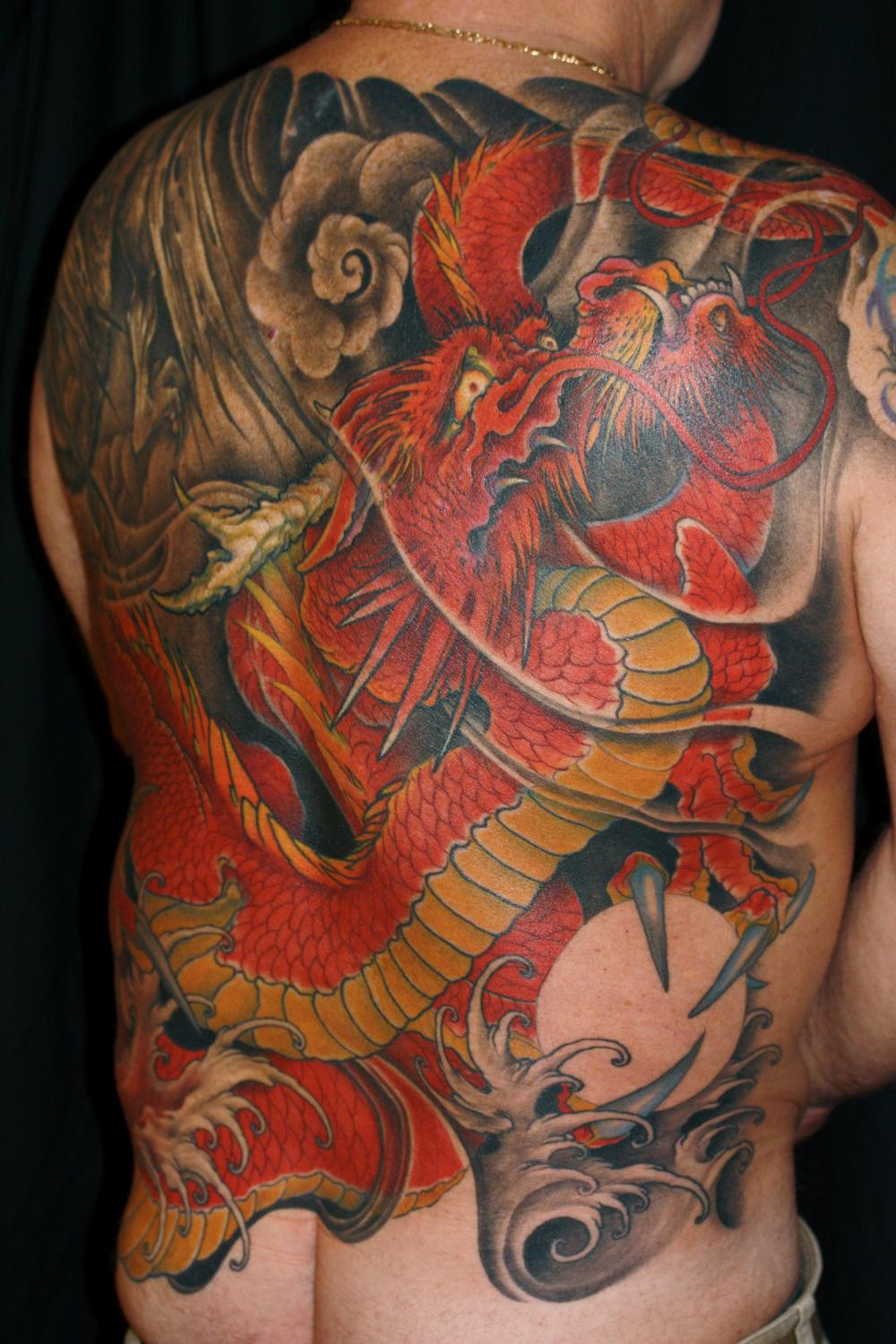 Tattoos - japanese style dragon - 55338