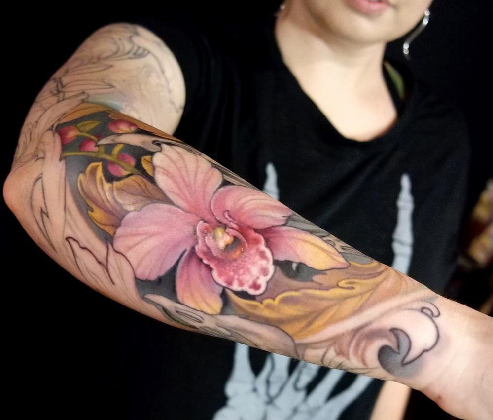 Tattoos - orchid - 114710
