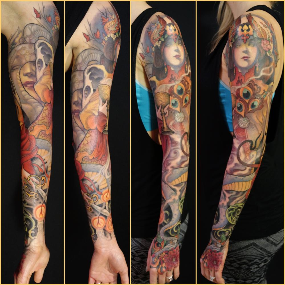 Tattoos - goddess sleeve - 115142