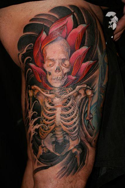 Tattoos - Skeleton Tattoo - 53438