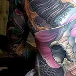 Ox skull, freehand fullbody suit Tattoo Design Thumbnail