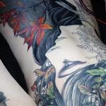 Mucha Nature goddess  Tattoo Design Thumbnail