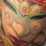 Venetian Art Nouveau Tattoo Thumbnail