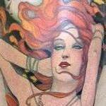 Tattoos - Art Nouveau Sleeve - 68129