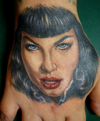 Jesso - betty page hand