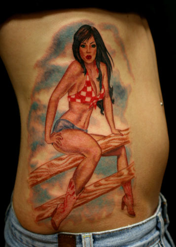 Jesso - Cowboy pin up girl tattoo