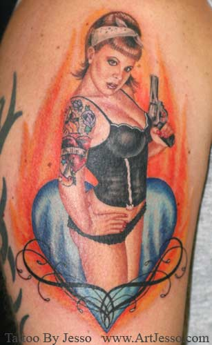 Jesso - wifey pin up. Keyword Galleries: Color Tattoos, Portrait Tattoos,