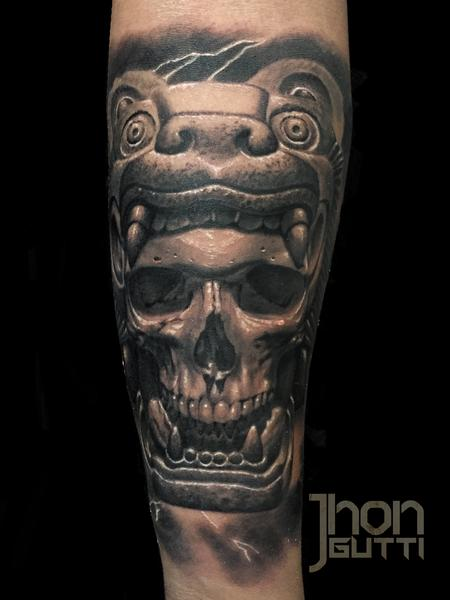 Tattoos - AZTEC SKULL - 113976