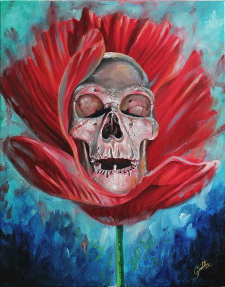 Tattoos - Skull In Flower - 100342