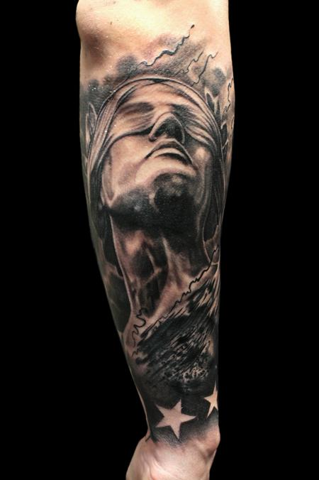 Tattoos - Lady Justice (Cover-up) - 100490