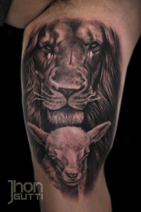 Tattoos - LION AND LAMB - 104846