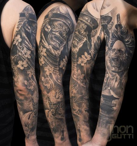 Tattoos - REALISTIC JAPANESE SLEEVE - 125574