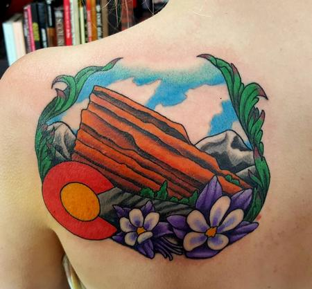 Jesse Neumann - Colorado Red Rocks Tattoo