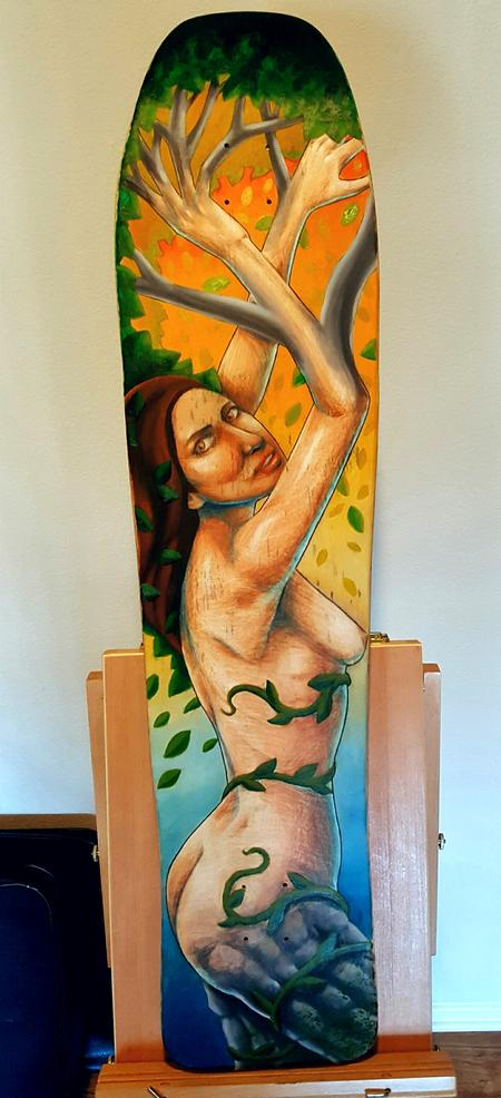 Tattoos - Daphne Longboard Painting - 117565