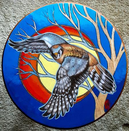 Tattoos - Kestrel Hawk painting - 122844