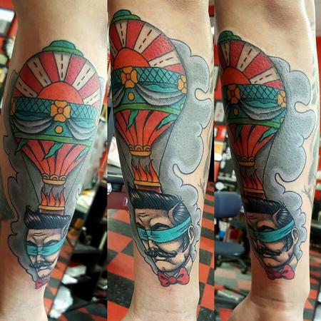 Tattoos - hot air balloon tattoo  - 125639