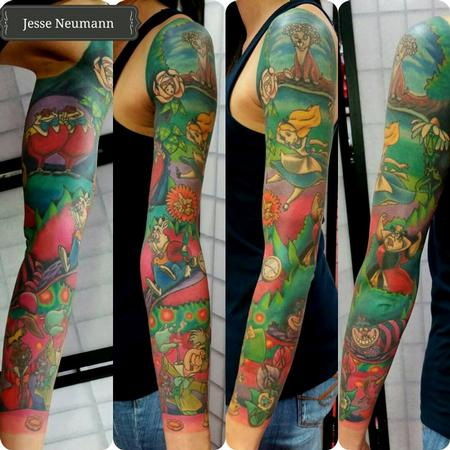 Tattoos - Alice in Wonderland sleeve - 111982