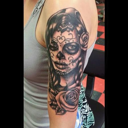 Tattoos - Day of the Dead Woman - 115620