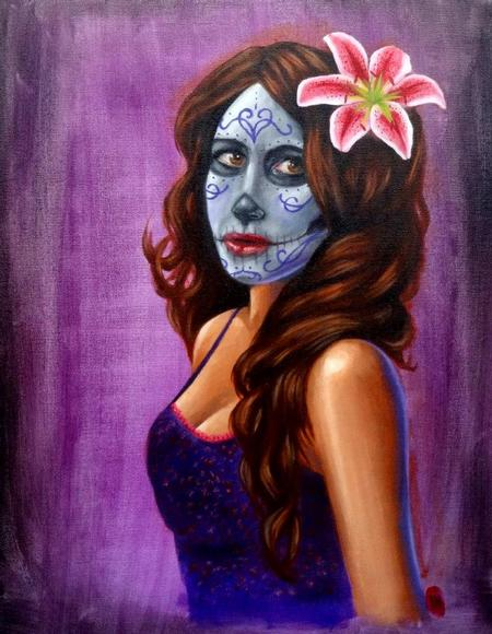 Tattoos - Day of the Dead on Purple  - 91672
