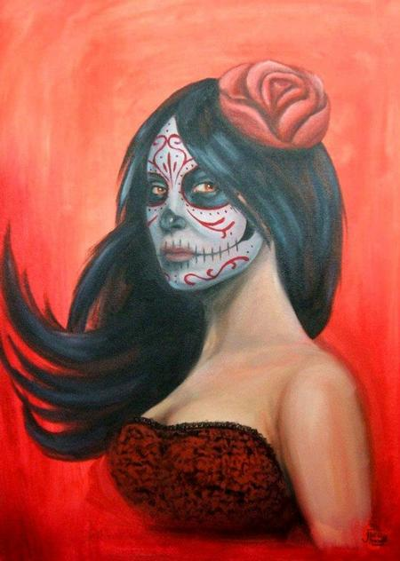 Tattoos - Day of the Dead on Red - 91671