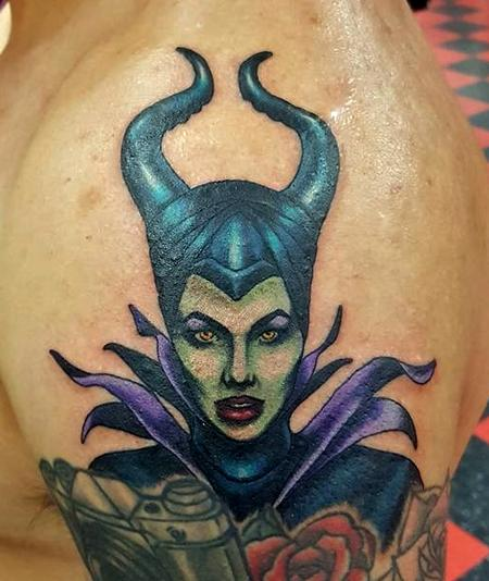 Jesse Neumann - maleficent tattoo