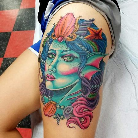 Tattoos - Mermaid portrait tattoo - 134399