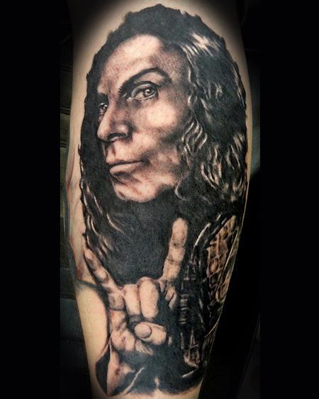 Tattoos - Ronnie James Dio portrait tattoo - 91341