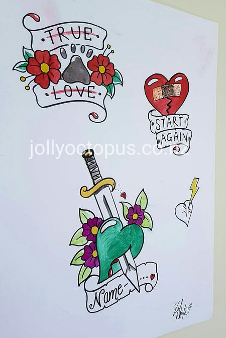 Tattoos - Original Art Tattoo Flash Designs - 125828