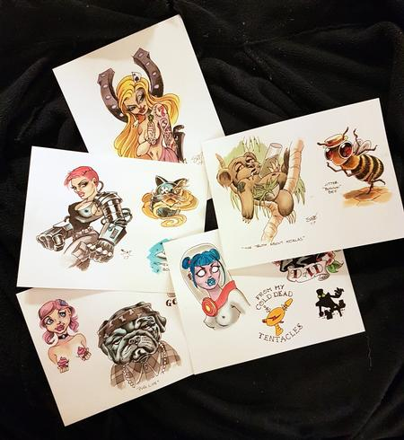 Tattoos - Original Art Tattoo Flash Designs - 126395